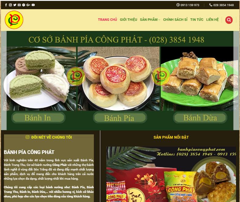 Thiết kế website bánh pía công phát