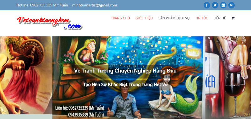 ve tranh tuong